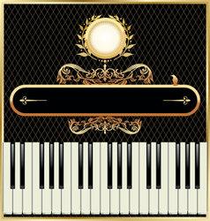 elegant piano background vector image