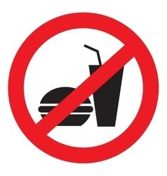 Icon ban food vector image