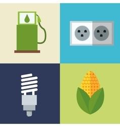set alternative energy icons vector image