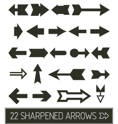 sharpened Arrows collection vector image