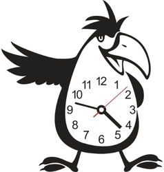 wall clock parrot sticker vector image