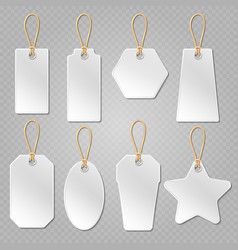 White blank price tags labels template vector image