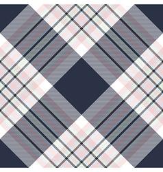 Check diagonal fabric texture seamless pattern vector image