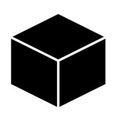 cube icon simple minimal 96x96 pictogram vector image vector image