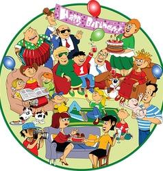 Great holiday cartoon vector image