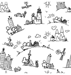 Seamless pattern with elements of network vector