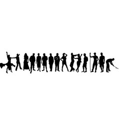 Silhouettes of People of Different Professions vector image vector image