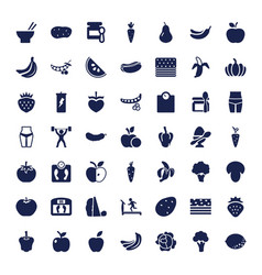 49 diet icons vector