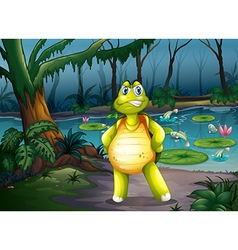 A turtle inside the forest vector