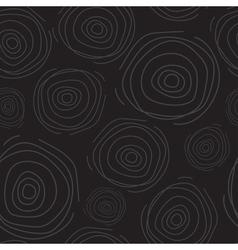 Abstract circle dark seamless pattern vector