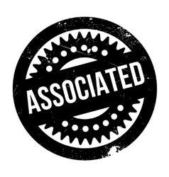 Associated rubber stamp vector