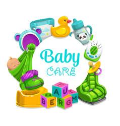 bacare children toys frame vector image