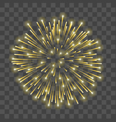 Beautiful gold firework golden salute isolated vector