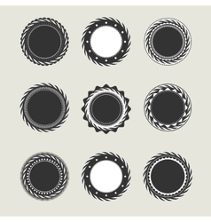 Black vintage badges templates vector image