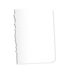 Blank sheet of paper on a vector