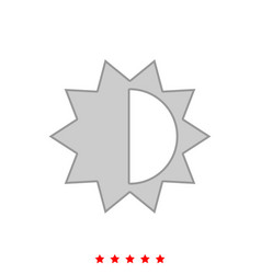 brightness and contrast setting it is icon vector image