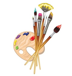 Brushes and Palette10 vector