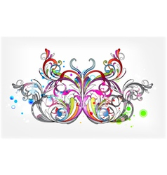 Butterfly with circles vector