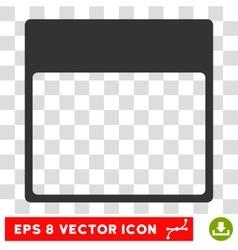 Calendar Page Template Eps Icon vector