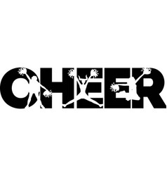 Cheer on white background vector