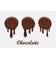 chocolate drip splash set liquid blot isolated vector image