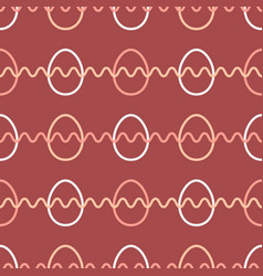 easter egg seamless pattern red color background vector image