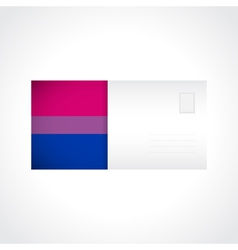 Envelope with bisexual pride flag card vector