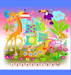 exercise for young children need to find the vector image