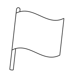 flag icon cartoon vector image