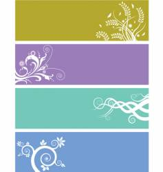 floral web banners vector image