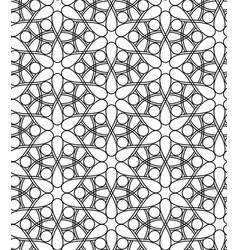 Geometric line art seamless pattern vector image