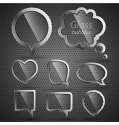 Glass-metal bubbles for speech vector image