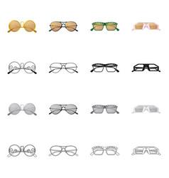 Glasses and sunglasses icon vector