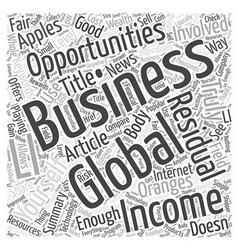 Global Business Opportunities Word Cloud Concept vector image