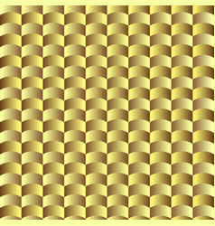 golden geometric seamless wavy pattern vector image