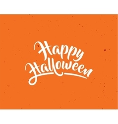 Halloween greeting card poster with lettering vector