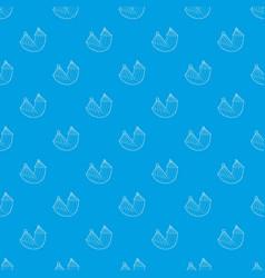 hammock pattern seamless blue vector image