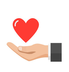 hand giving heart love concept vector image