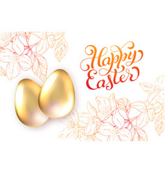 Happy easter holiday card vector