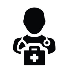healthcare icon male doctor person profile avatar vector image