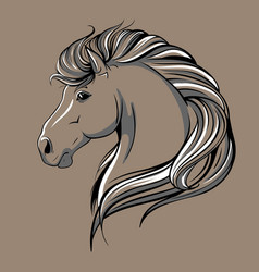 Horse head sketch vector