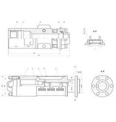 input section of the submersible centrifugal pump vector image