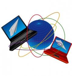 internet communication vector image