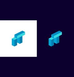 it logo monogram vector image