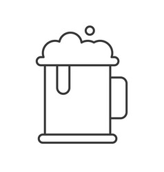 jug of beer beverage and food outline icon vector image