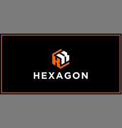 kk hexagon logo design inspiration vector image