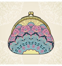 Lacy elegant purse vector