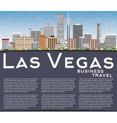 Las Vegas Skyline with Gray Buildings Blue Sky vector