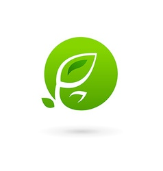 Letter O eco leaves logo icon design template vector