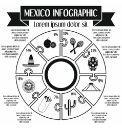 Mexico infographic elements simple style vector image